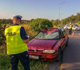 Potrącenie rowerzysty w Sadlinkach. 19-latek jechał bez uprawnień