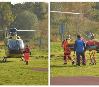 Wypadek podczas meczu we Włocławku. 16-letni piłkarz zabrany LPR do szpitala
