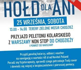 """Ultramaraton kolarski  """"Hołd dla Ani"""" rusza jutro z Warszawy"""