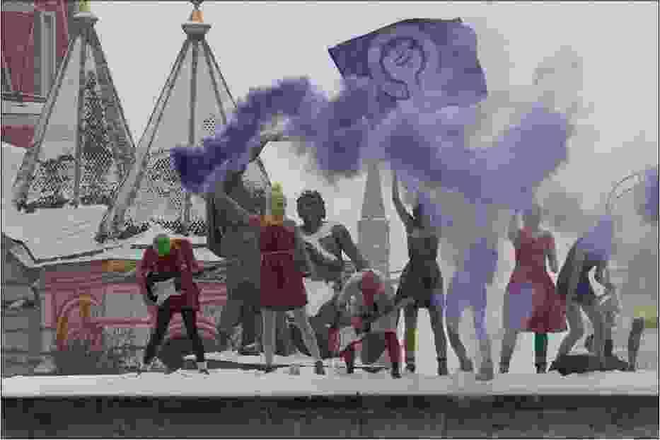 Pussy Riot na placu Czerownym, 20 stycznia 2012