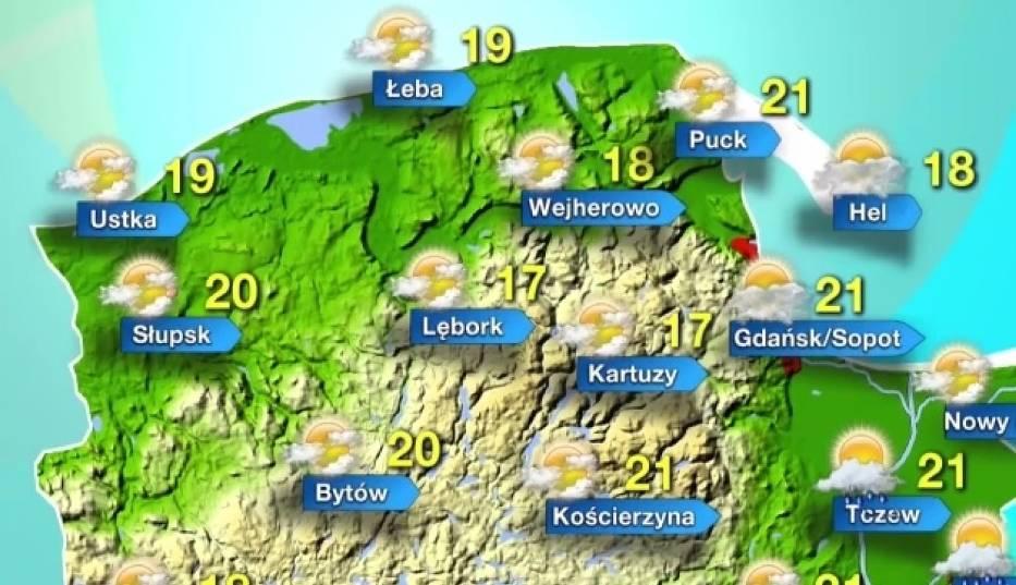 Prognoza pogody dla Pomorza na poniedziałek, 17 lipca 2017 r