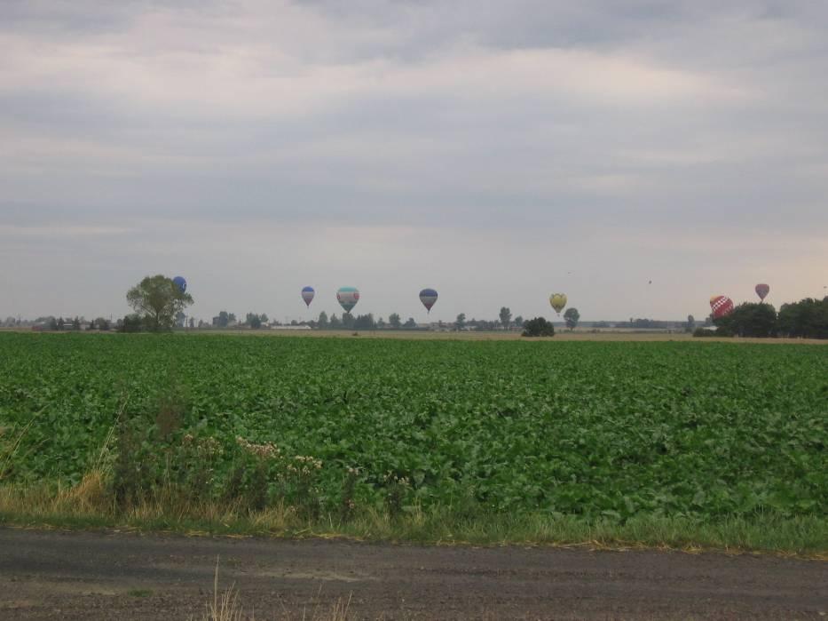 Balony nadlatujące z Włocławka