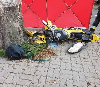 Tragiczny wypadek w Unisławiu. Zginął motocyklista [zdjęcia]