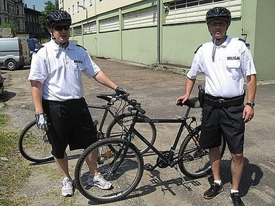 Policjanci na rowerach w Sosnowcu
