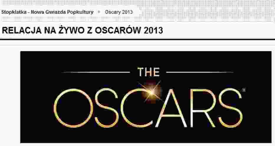 Oscary 2013 ze Stopklatką