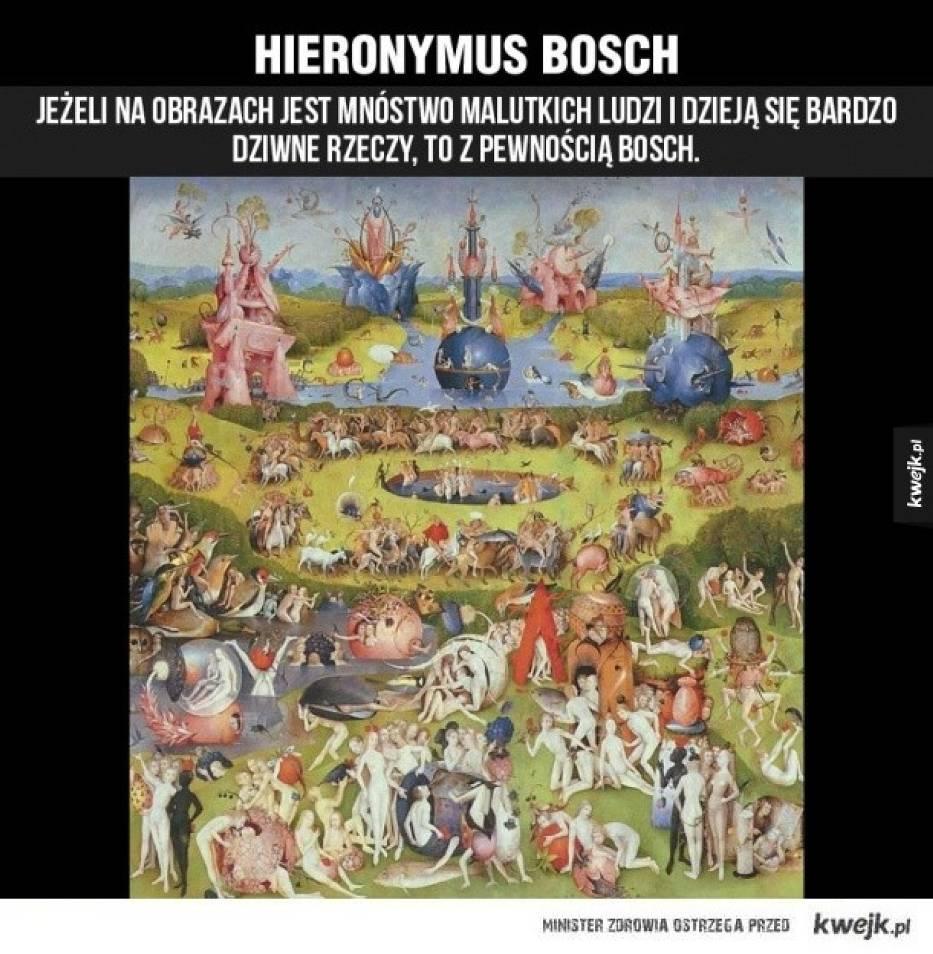 Hieronim Bosch(1450 - 1516) Niderlandzki malarz i rysownik przełomu późnego gotyku i wczesnego renesansu północnego, kontynuator stylu malarskiego ostatniej generacji prymitywistów flamandzkich
