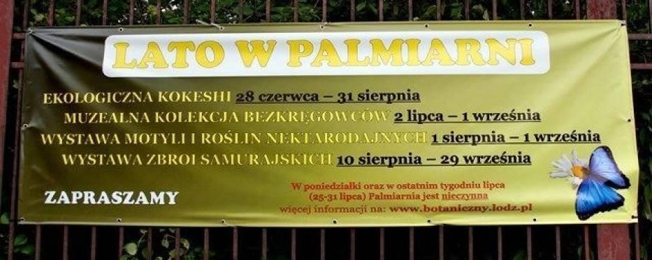 """Bilbord """"Lata w Palmiarni""""Fot"""