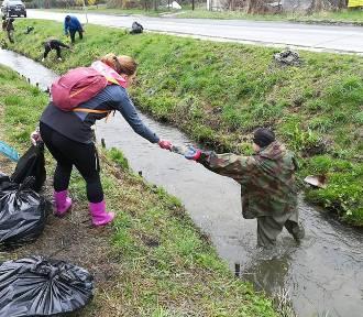 Wolontariusze posprzątali okolice rzeki Wyżnicy na terenie miasta Kraśnik. Zdjęcia