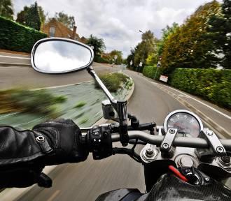 Wólka Gołębska. Pościg za motocyklistą zakończył się w Puławach