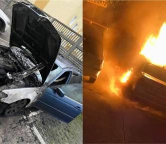 Nocne pożary samochodów BMW we Włocławku. Trwają poszukiwania podpalacza [zdjęcia]