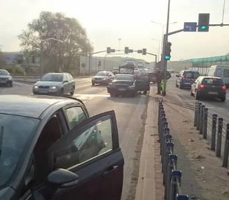 Wypadek na DK 94 przy Auchan