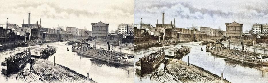 Miejski skład towarów, 1900 r.