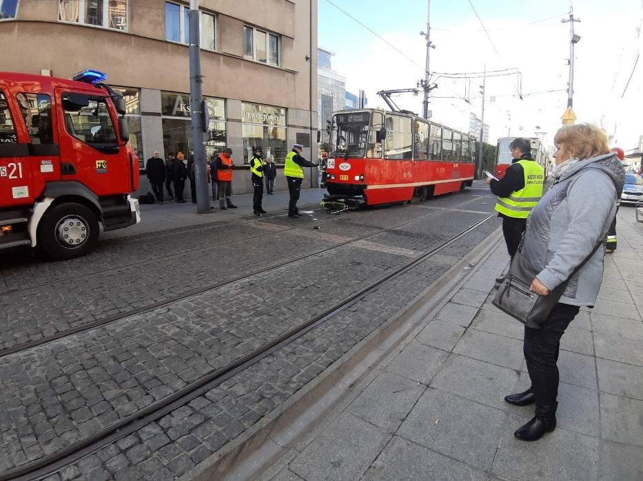Wypadek na rynku w Katowicach