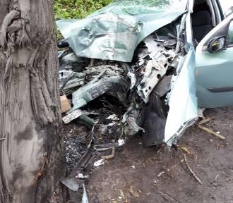 Uderzyła samochodem w drzewo. W akcji śmigłowiec LPR [ZDJĘCIA]