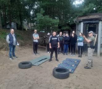Obóz wOkręglicy dla kadetów klas mundurowo-policyjnych warckiego liceum