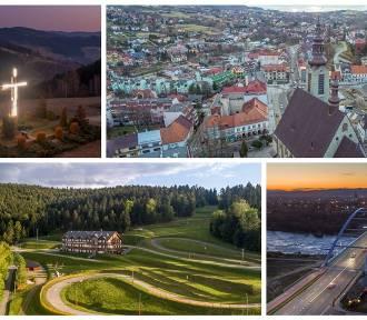 Region sądecki z lotu ptaka. Najpiękniejsze budynki i atrakcje turystyczne [ZDJĘCIA]