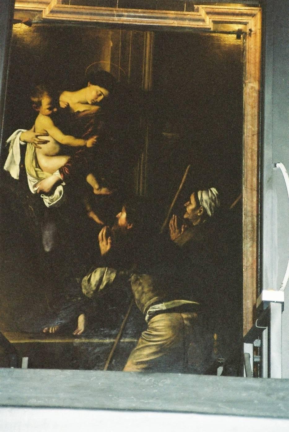 Madonna z pielgrzymem, Caravaggio