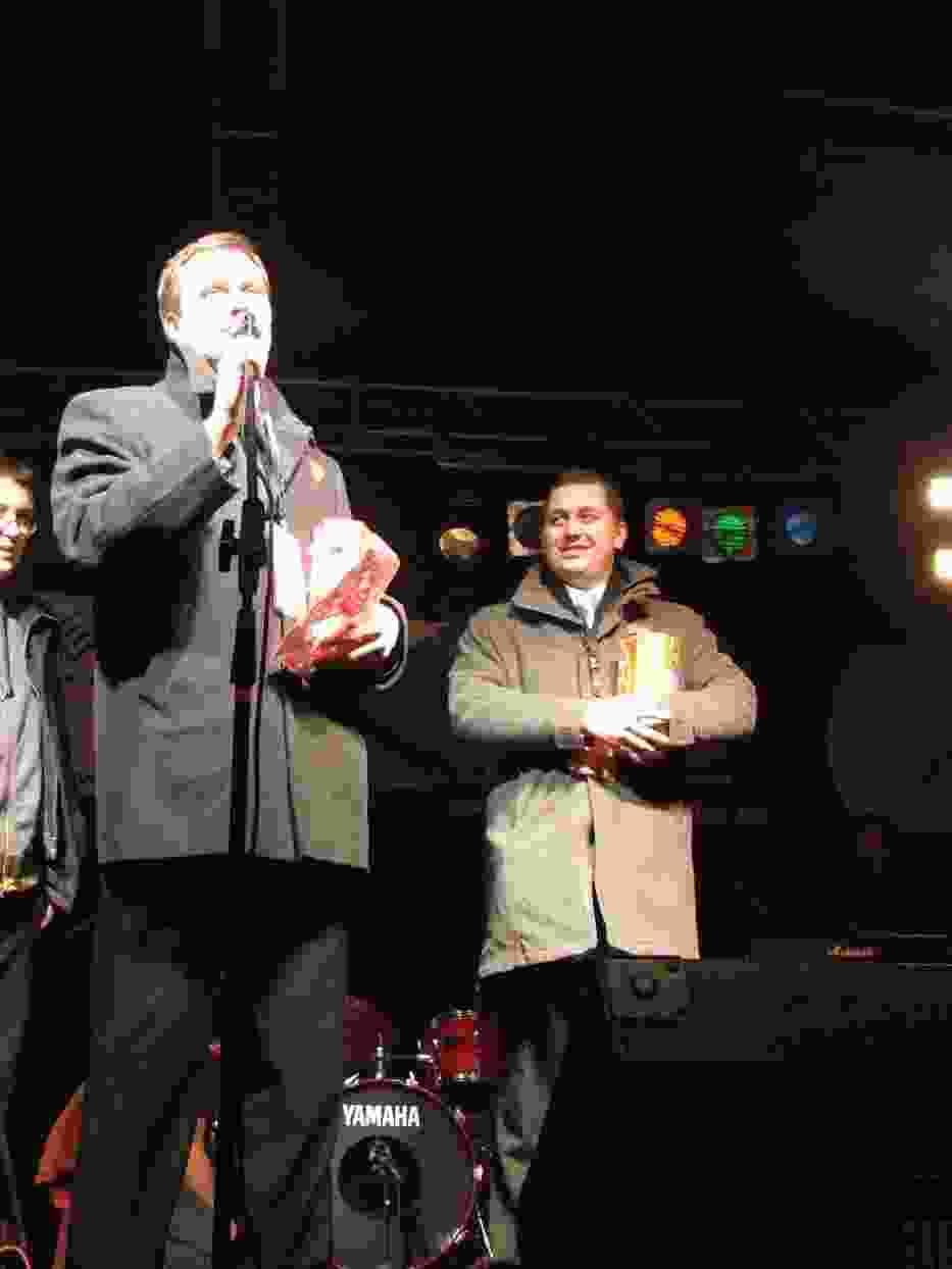 Prezydent Sieradza Jacek Walczak oraz poseł Cezary Tomczyk