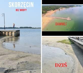 SKORZĘCIN: Znika jezioro w Skorzęcinie - na końcu molo nie ma wody!
