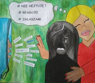 Malbork. Plakat uczennicy SP 3 nagrodzony w ogólnopolskim konkursie na temat cyberprzemocy