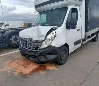 Wypadek czterech samochodów na autostradzie A4 pod Wrocławiem. Duże utrudnienia