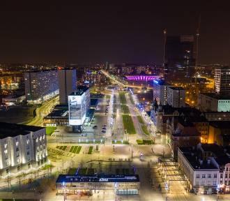Są cudowne! Zobacz nocne zdjęcia miast Śląska i Zagłębia - wykonane dronem