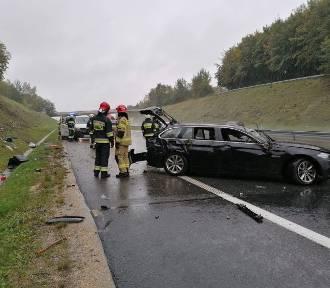 Wypadek na płatnym odcinku A4. Autostrada zablokowana