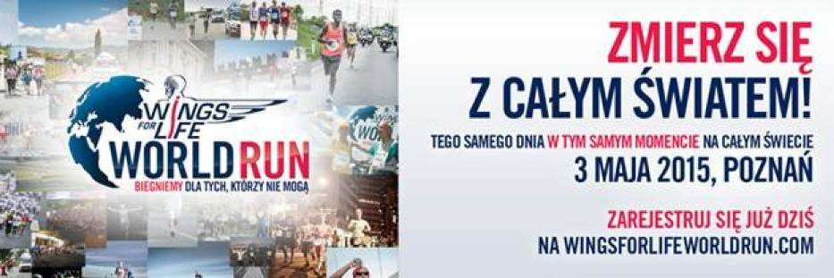 Wings for Life World Run 2015 odbędzie się 3 maja