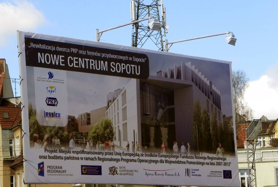 Tablica informacyjno-reklamowa sopockiej inwestycji