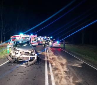 Wypadek na DK12 pod Garzynem zablokowana droga krajowa  [ZDJĘCIA]