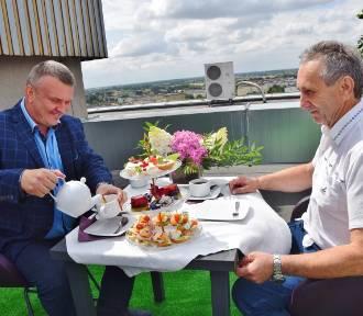 Kawa z sieradzkim starostą na... dachu (zdjęcia)