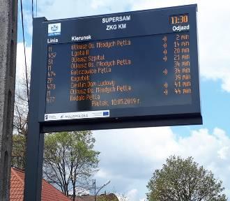 W Olkuszu stanęła pierwsza tablica informacji pasażerskiej
