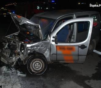 Pijany uderzył w inne auto na DK86 w Sosnowcu
