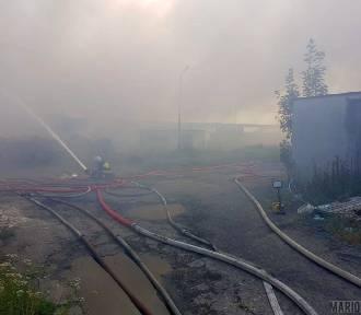 Dym z pożaru składowiska odpadów w Dąbrowie nie jest groźny dla ludzi