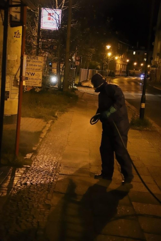 W piątek 24 kwietnia Zakład Higieny Komunalnej w Brzegu przeprowadził dezynfekcję terenów miasta
