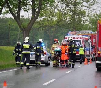 Pokrzywnica. Wypadek na drodze krajowej nr 40 do Kędzierzyna-Koźla