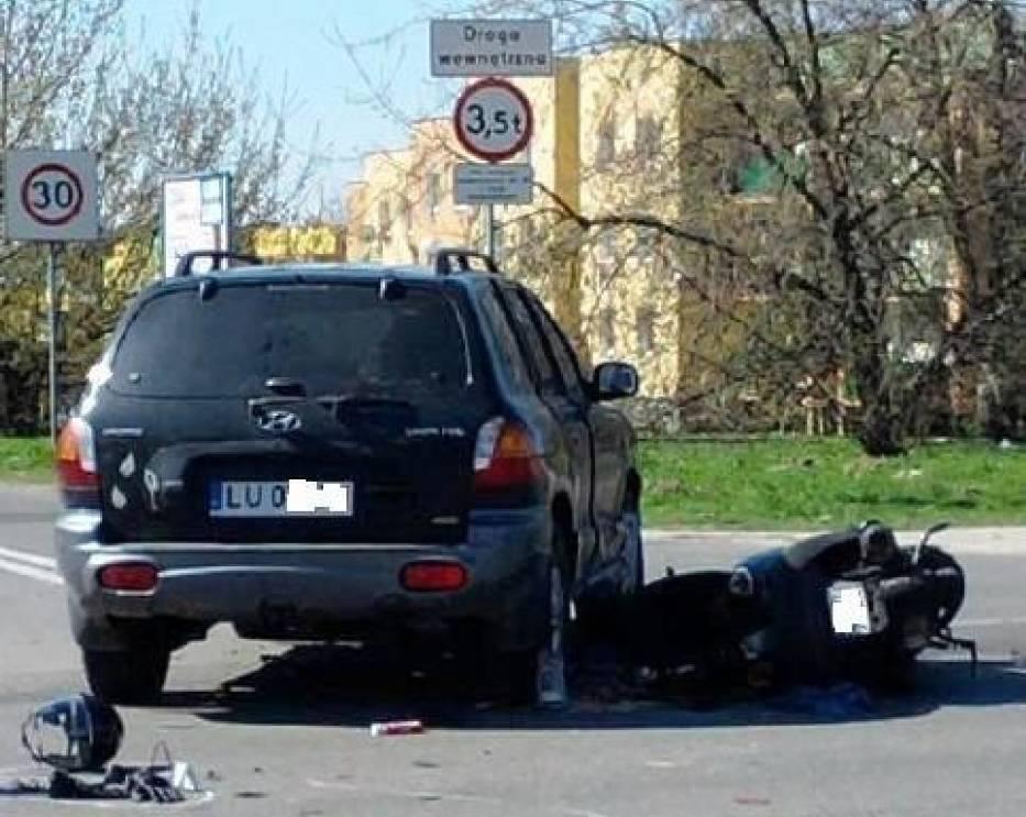 Kierowca motocykla trafił do szpitala