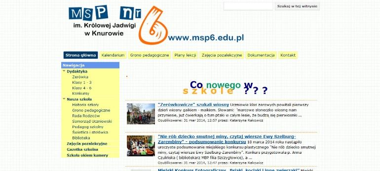 Msp Nr 6 W Knurowie Najfajniejsza Szkoła Podstawowa W
